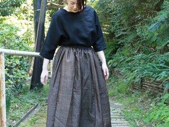 大島紬のリメイクスカート 2の画像