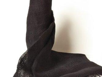 二重織マフラー シルクと手紡ぎウールの画像