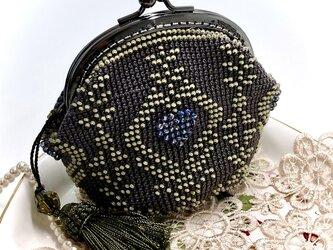 ビーズ編みがま口-グレーティストスワンの画像