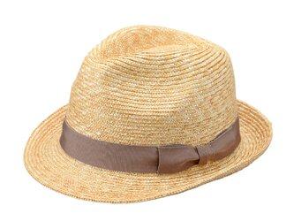 Simone シモン  細麦中折れ 麦わら 帽子 ストローハット グレージュ 59cm [UK-H101-GG-L]の画像