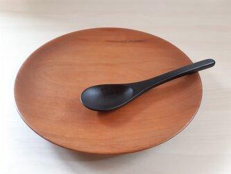 拭き漆のスープスプーンの画像