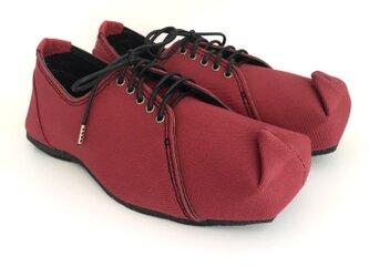 SQUARE sneakers #倉敷帆布 #受注製作 #天然素材の画像