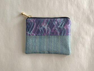 絹手染ミニポーチ(継・寒色系)の画像