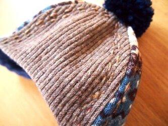 お出かけニット帽子(冬空)の画像