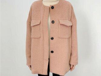 en-enシャギー・ジャケット・ピンクの画像