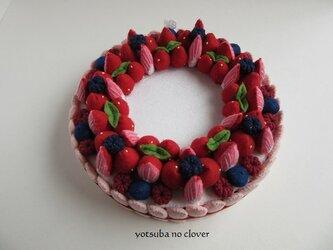 SALE《直径16㎝》リースケーキ(2種パーツ付き)の画像