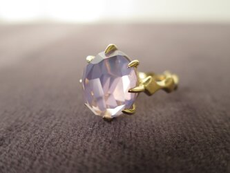 K18 Lavender Quartz Random hidome cut Ring の画像