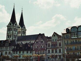 【額付写真】ドイツのとある街並の画像