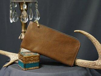 Itay Leather OakなめらかファスナーL字長財布#スマホ収納可能《送料無料》サービス品の画像