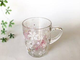 再販!!雪の結晶マグカップホットもOKーPの画像