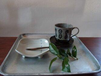 カップ 陶器(大)下黒・上ひさごたくさんの画像