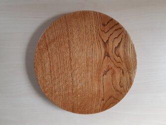 大きめの丸皿【拭き漆】の画像