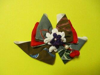 友禅小町の花飾りバレッタの画像