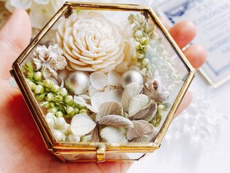 fleur リングピロー  ガラスケース ブライダルの画像