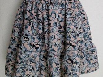 5283 花柄の着物で作ったミニスカート #送料無料の画像