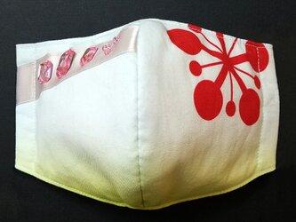 U 立体 布 インナー マスク 伝統 和柄 和風 可愛い かわいい おしゃれ 梅鉢紋 派手を司る神 祭り 遊郭 チャームなしの画像