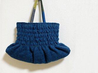冬物セール★からふるギャザーのバルーン型かばんの画像