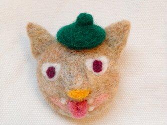 ワル猫ブローチ【お気に入りのベレー帽】の画像