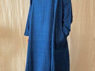 本藍染 手織り木綿ワンピース(COTTON100%)の画像