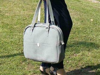 【受注生産】A4ビジネス革バッグ/グレーの画像