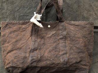 柿渋染めかばん linen帆布の画像