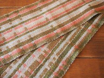 昼夜織 草木染 マフラーの画像