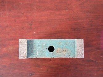 足付角型 植木鉢(大)グリーンの画像
