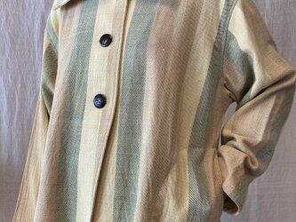 草木染 手織り木綿ブラウス(COTTON100%)の画像