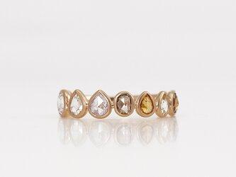 Rosecut diamond eternity ring / Multiの画像