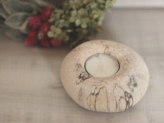 ≪白樺≫ キャンドルホルダー 大 ①の画像