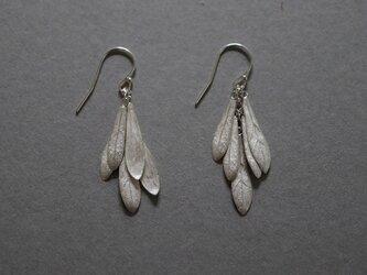 small leaves pierced earring Silver925の画像