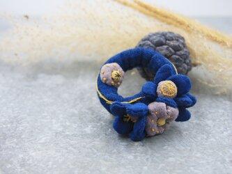 リースヘアゴム・花の画像