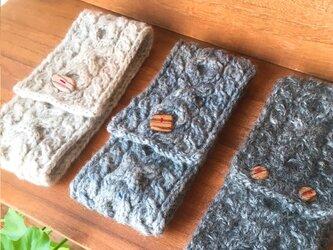 草木染め/手紡ぎ/ニットターバン/アラン模様の画像
