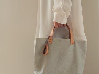 手染め帆布トートバッグSサイズ □あさくちなし色□の画像