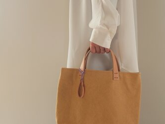 手染め帆布トートバッグSサイズ □とうもろこし色□の画像