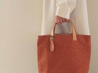 手染め帆布トートバッグSサイズ □炎色□の画像