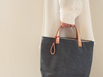 手染め帆布トートバッグSサイズ □消炭色□の画像