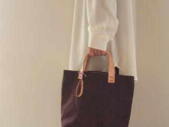 手染め帆布トートバッグSサイズ □珈琲色□の画像