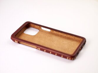 Leather handmade case  /  iPhone 12シリーズ:【カラー】マホガニーの画像