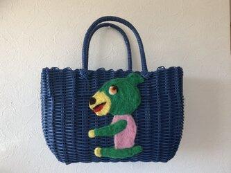 koruri × workshopcolore カゴバッグ くまの画像
