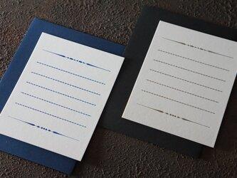 飾り罫線カード|ホワイト| 活版印刷の画像