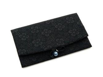 ふくれ織りふくさ スリット型 ブラック SFN01-01の画像