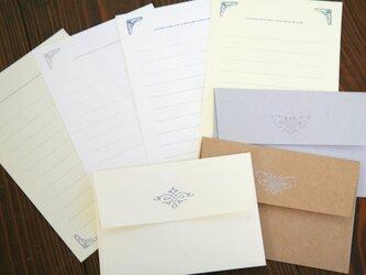 活版印刷装飾活字ミニ便箋×ミニ便箋用封筒セットの画像