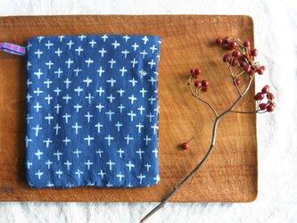 藍染め ポットマット「星降る夜に」の画像