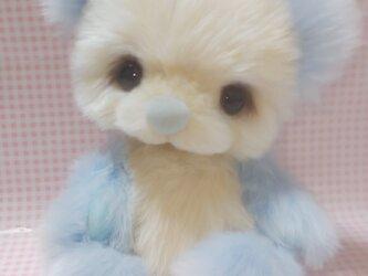 ふわふわぬいぐるみ☆ミルキーベア☆ライトブルー☆ゆめかわの画像