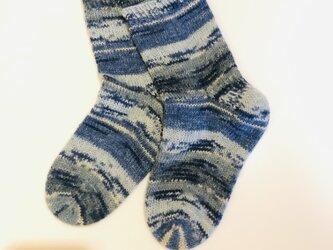 No.445 手編み靴下の画像