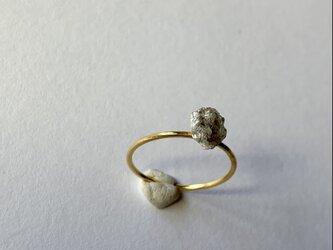 ダイヤモンド原石の14kgfリング 11号の画像
