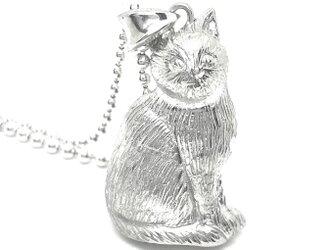 SOLID DESIGN SD-555 猫シリーズ 座りネコシルバーペンダントの画像