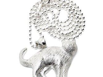 SOLID DESIGN SD-556 猫シリーズ 立ちネコシルバーペンダントの画像
