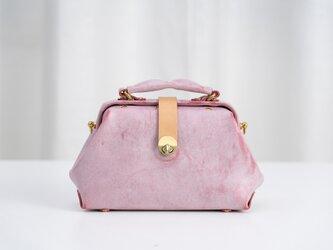新商品キャンペーン中!がま口バッグ 手作りのレザーショルダーバッグレディース 総手縫いの画像